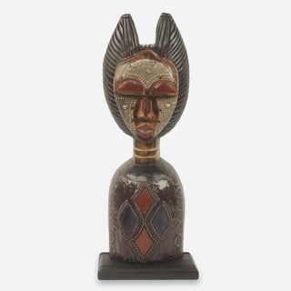Wood Sculpture, 'Obaapa' - Ghana