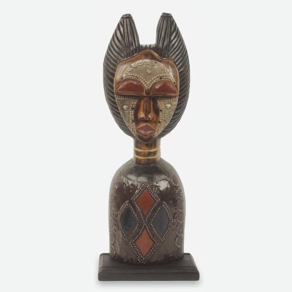 Wood Sculpture, 'Obaapa' - Ghana