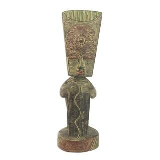 Wood Statuette, 'Reconciliation' - Ghana