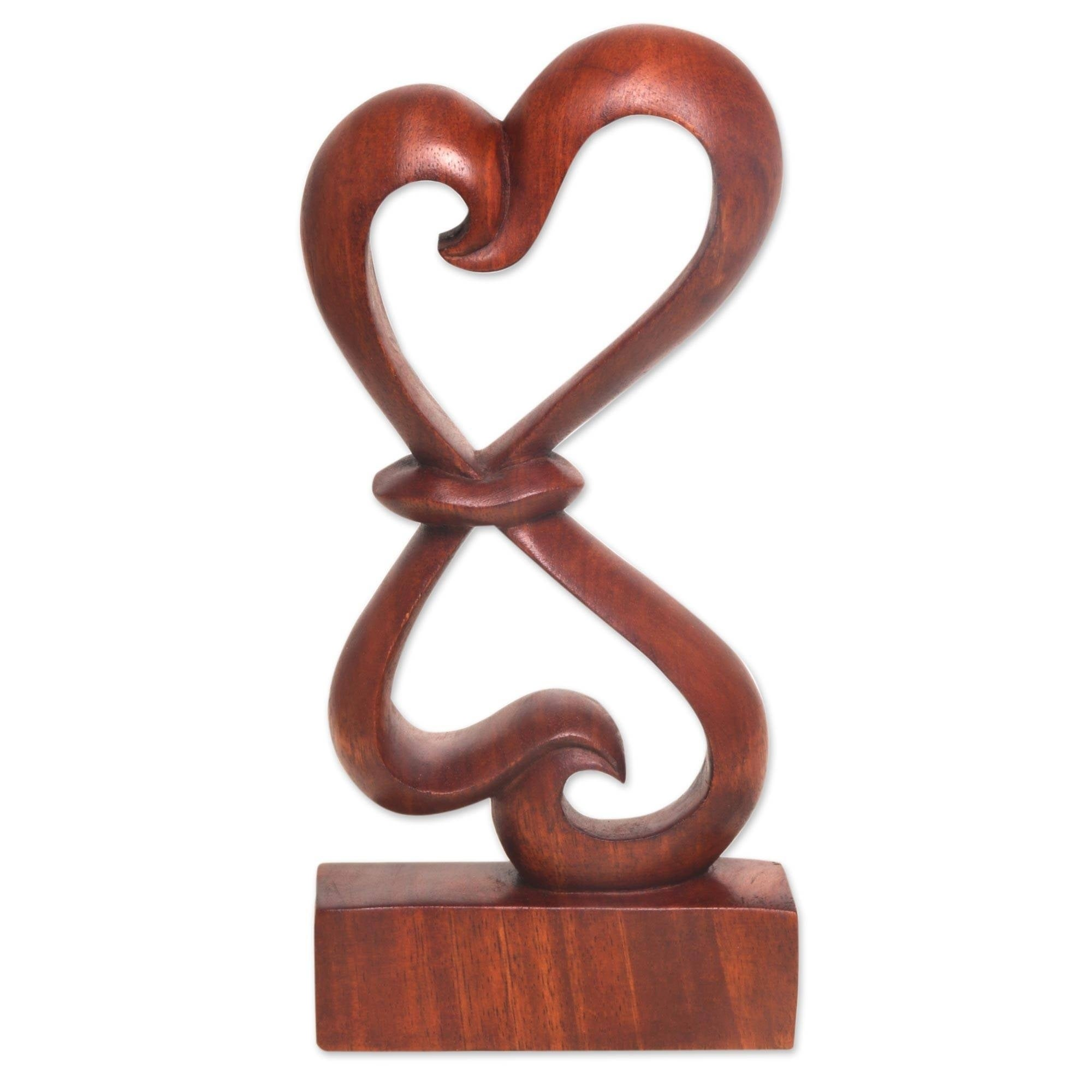 Handmade Wood Sculpture Heartfelt Indonesia Overstock 21420646
