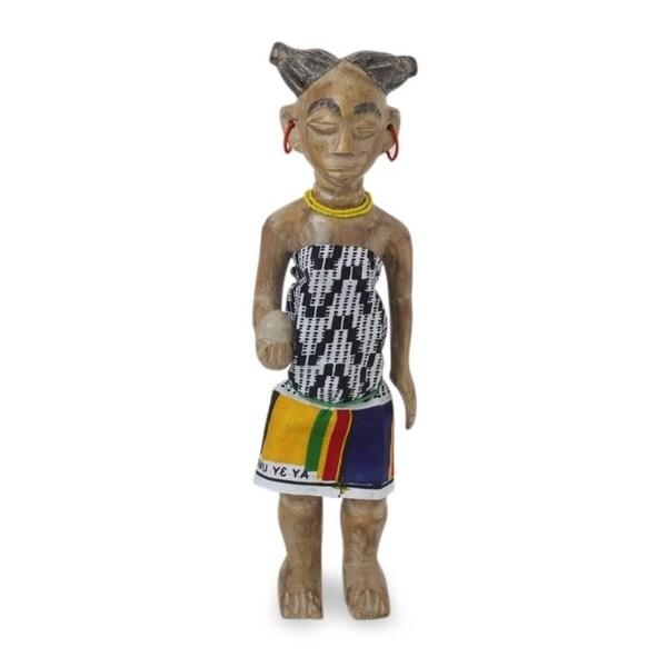 Wood Sculpture, 'Her Birthday Gift' - Ghana