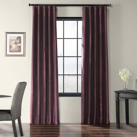 Exclusive Fabrics Faux Silk Taffeta Curtain