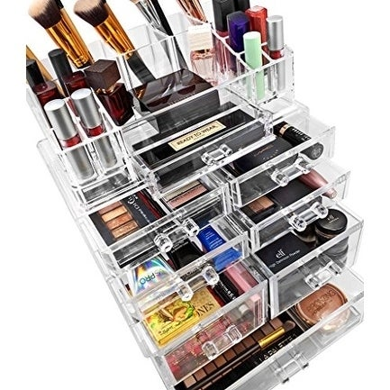 Sorbus Makeup Storage Case Set Large Display Drawers