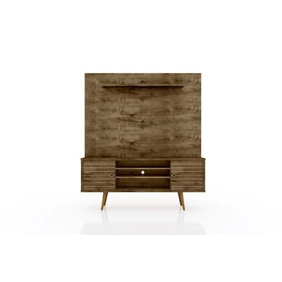 Liberty 63 In. Freestanding Brown Entertainment Center