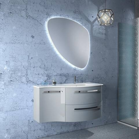 "LaToscana Ambra 43"" Vanity With Left Concave Side Cabinet"