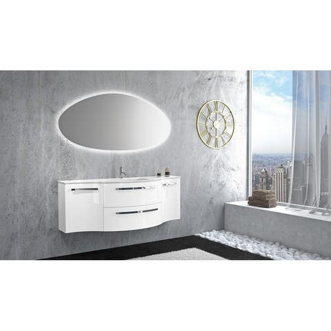 "LaToscana Ambra 57"" Vanity with Left and Right Concave Side Cabinets"