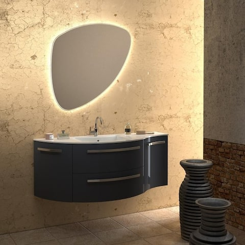 """LaToscana Ambra 52"""" Vanity with Left Curved and Right Convace Side Cabinets"""