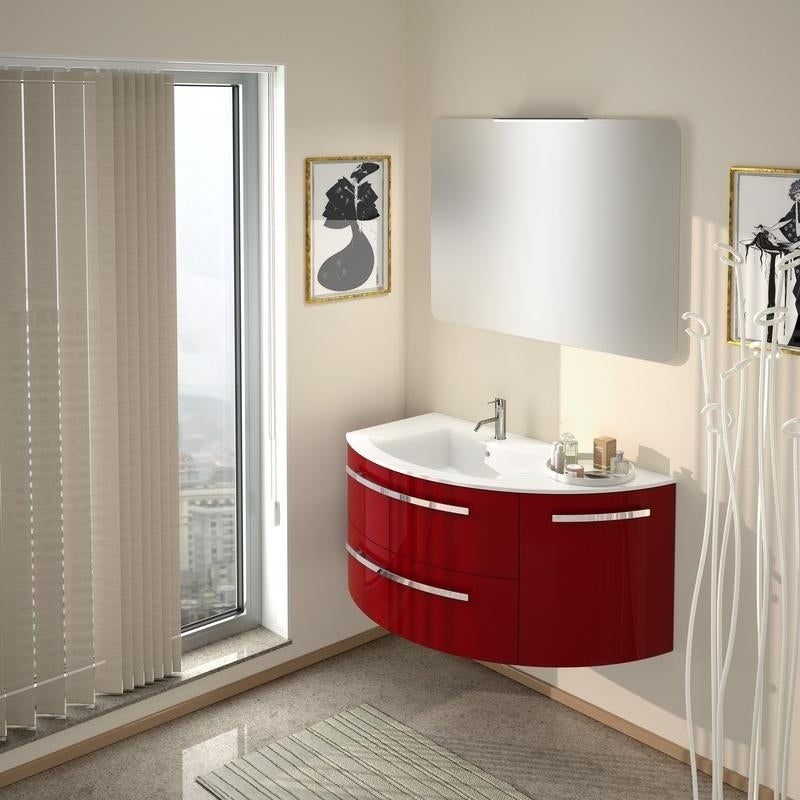 Latoscana Ambra 38 Vanity With Right Curved Side Cabinet Overstock 21422131