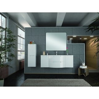 """Latoscana Oasi 57"""" Vanity With Left and Right Side Cabinets"""