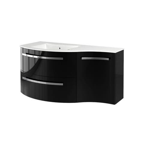 "LaToscana Ambra 43"" Vanity with Right Concave Side Cabinet"