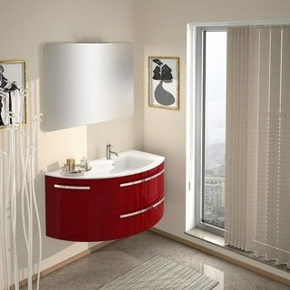 "LaToscana Ambra 38"" Vanity With Left Curved Side Cabinet"