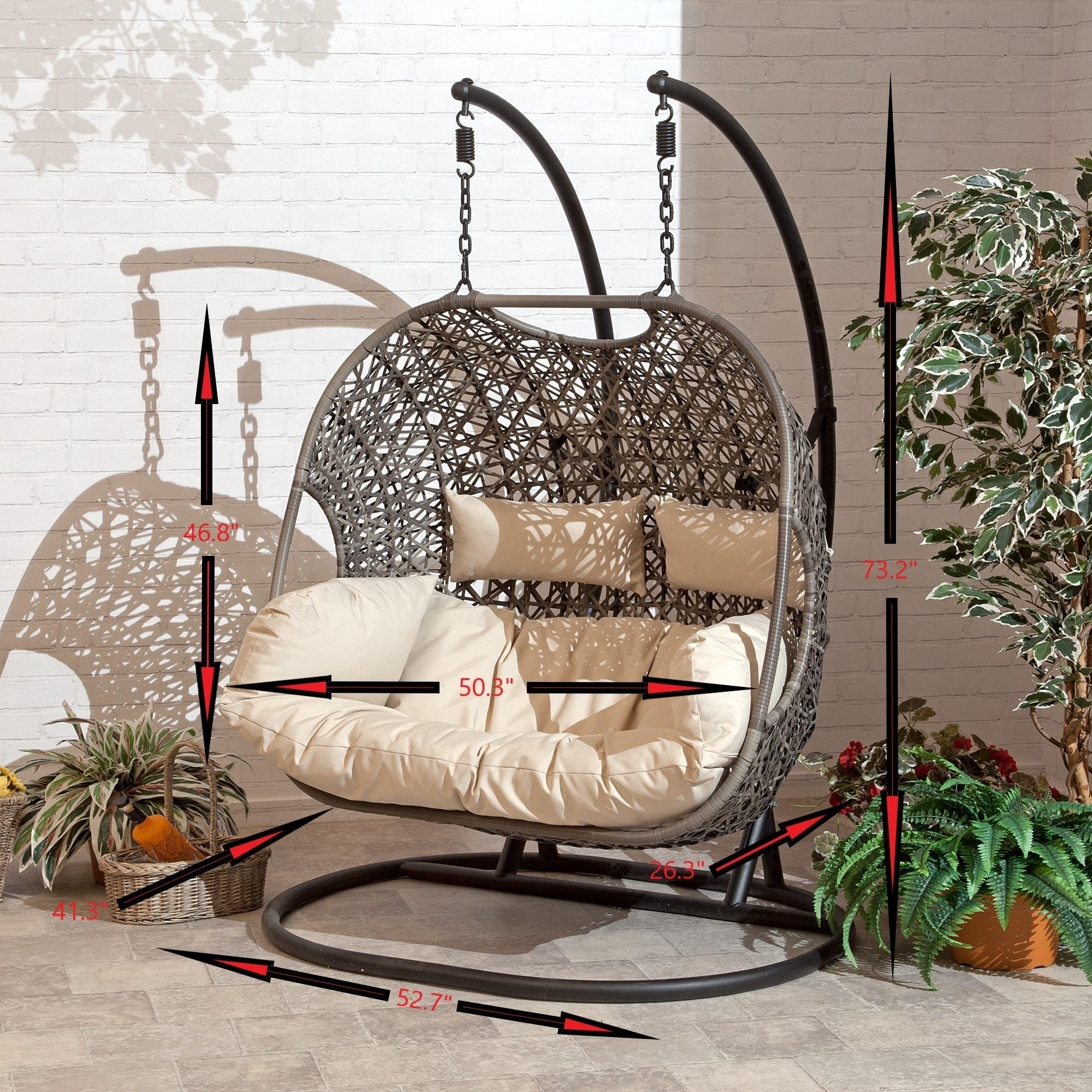 Brampton Espresso Cocoon Hanging Swing Chair Overstock 21422385