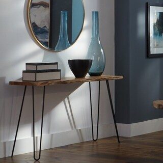 Natural Live Edge Wood/Metal Hairpin-leg 48-inch Console Table