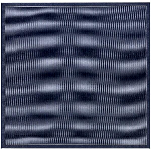 """Pergola Deco Ivory-Blue Indoor/Outdoor Square Rug - 8'6"""" Square"""