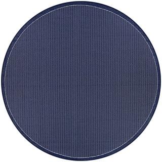 """Pergola Deco Ivory-Blue Indoor/Outdoor Round Rug - 7'6"""" Round"""