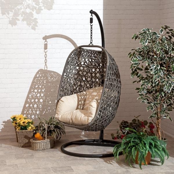 Shop Brampton Espresso Cocoon Hanging Chair Swing Single