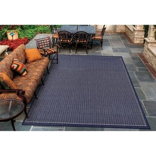 "Pergola Deco Ivory-Blue Indoor/Outdoor Area Rug - 5'10"" x 9'2"""