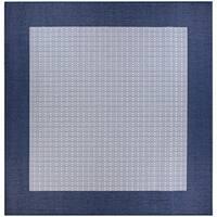 Pergola Quad/Ivory-Blue Indoor/Outdoor Square Rug - 8'6 x 8'6