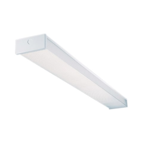 Metalux 48 in. L 2 lights T8 Fluorescent Light Fixture Wrap Around