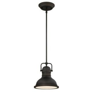Westinghouse Oil-Rubbed Bronze Mini Pendant Light LED 8-3/4 in. D x 8-3/4 in. W x 41-5/16 in. H Oil-Rubbed Bronze