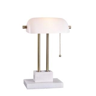 Ensemble Desk Lamp - Antique Brass with Marble Base