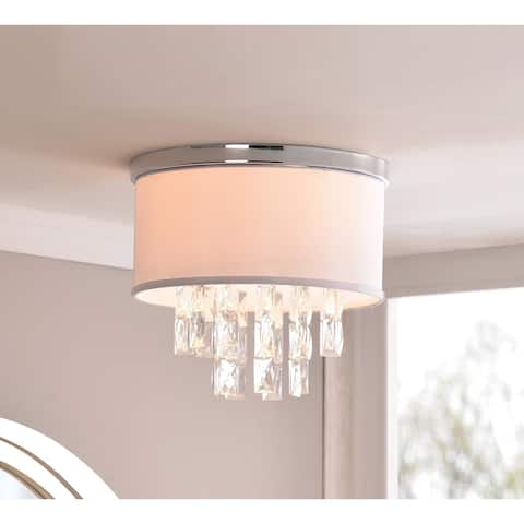 Marilyn 2 Light Flush Mount - Chrome with Crystal Accents