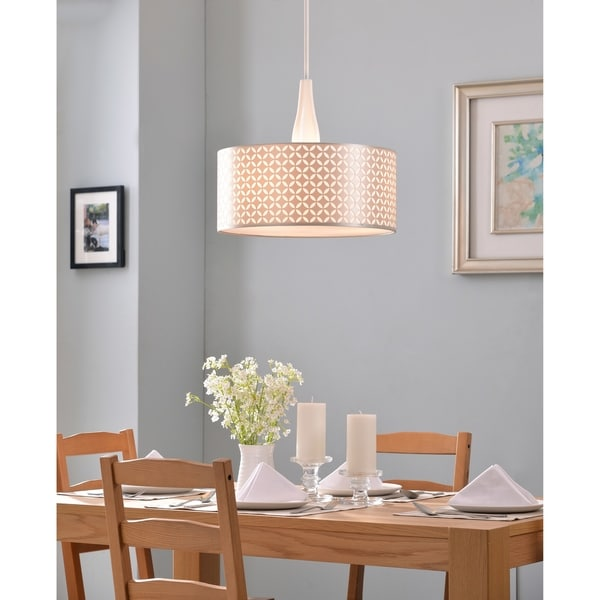Design Craft Bardot 3 Light Pendant - Gloss White