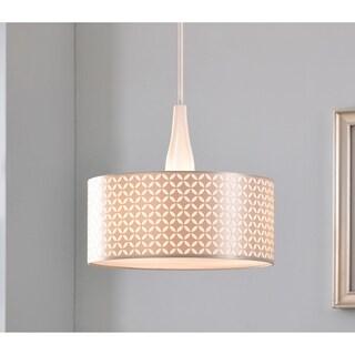 Design Craft Bardot 3 Light Pendant - Gloss White