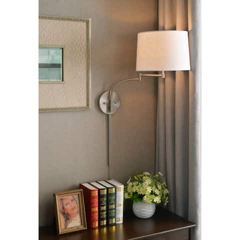 Sieite Wall Swing Arm Lamp - Brushed Steel