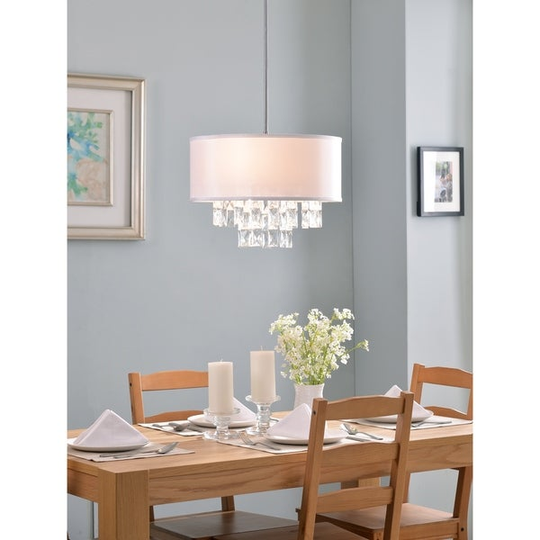 Design Craft Marilyn 3 Light Pendant - Chrome with Crystal Accents