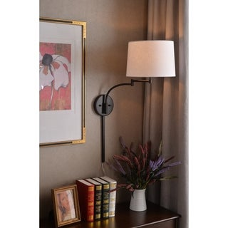 Design Craft Siete Wall Swing Arm Lamp - Oil Rubbed Bronze