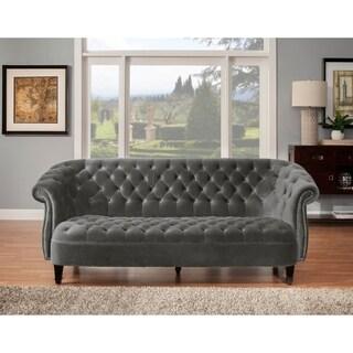Cassini Sofa-Grey Velvet