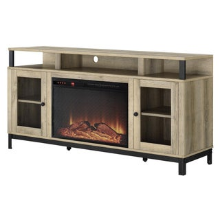 """Avenue Greene Annadale Natual Fireplace TV Stand for TVs up to 65"""""""