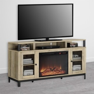 Avenue Greene Annadale Natual Fireplace TV Stand for TVs up to 65""