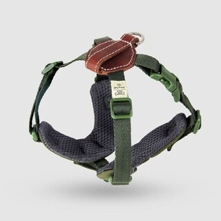 Sputnik Uniquely Crafted Small Plus Dog Harness No Pull and Step In with Leather Accents, Green