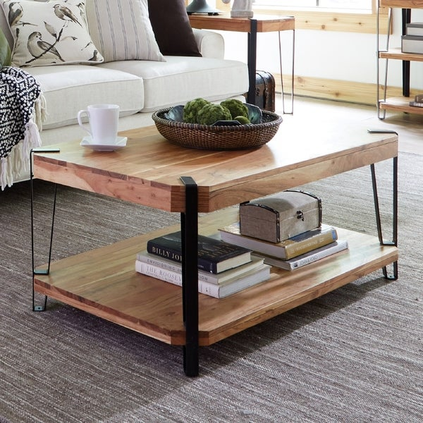 Ryegate Natural Live Edge Solid Wood Coffee Table
