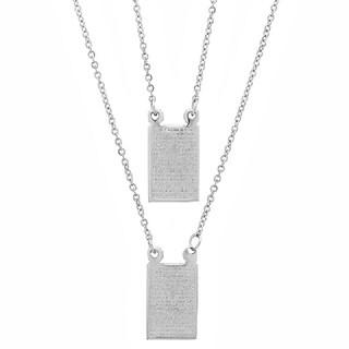 Piatella Ladies Stainless Steel Lord's Prayer Necklace