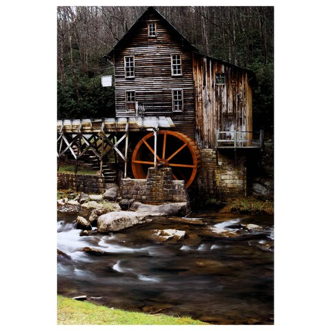 Yosemite Home Décor River Mill Tempered Glass Art - Multi-color