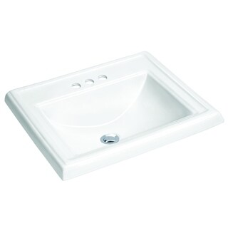 ANZZI Dawn 23 in. Drop-In Vitreous China Bathroom Sink in White