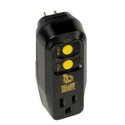 Yellow Jacket 1 outlets Surge Protector Black/Yellow - Black