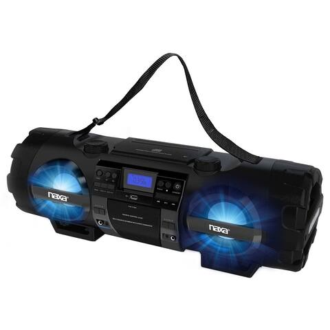 Naxa MP3/CD Bass Reflex Boombox & PA System with Bluetooth