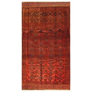 Handmade Herat Oriental Afghan Hand-knotted Balouchi Wool Rug - 5'7 x 10'3 (Afghanistan)