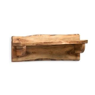 Alpine Natural Live Edge Wood Mantel Shelf
