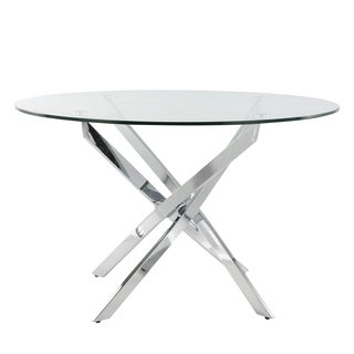 Poly and Bark Hawes Glass Dining Table