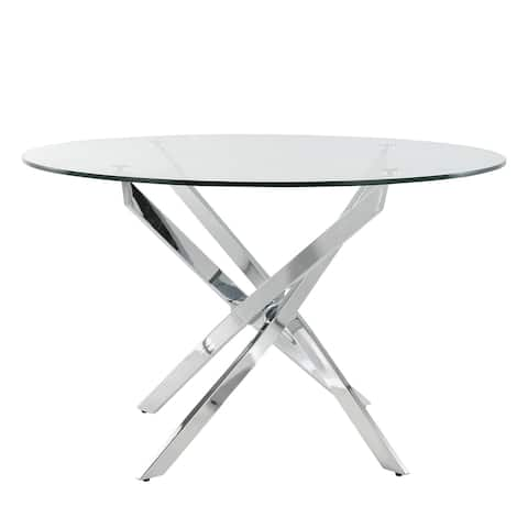 EdgeMod Hawes Glass Dining Table