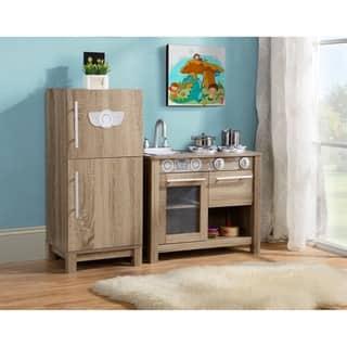 Coco & Michelle Faux Wood Refrigerator