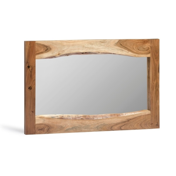 Alpine Natural Live Edge Wood Mirror
