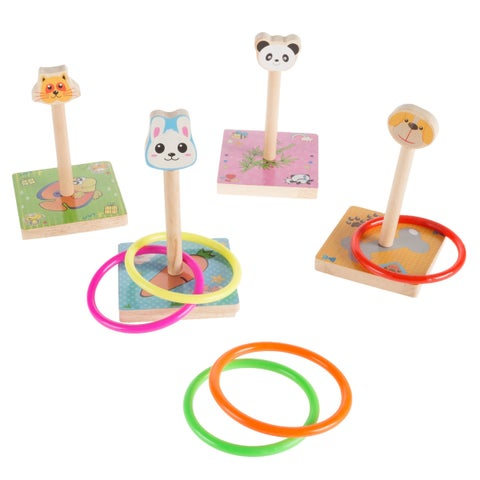 Kids Zoo Animal Ring Toss Game Set-Hey! Play!