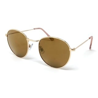Kathy Ireland Women's Gold frame in Brown/Gold mirror lens Sunglasses