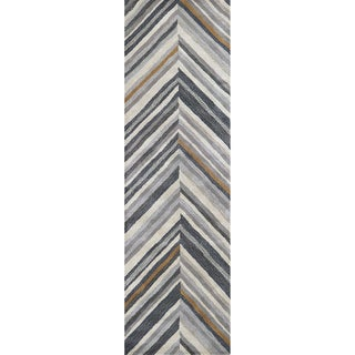 """Rizzy Home Marianna Fields Hand-Tufted 2'6"""" x 8' Runner Rug, Gray"""